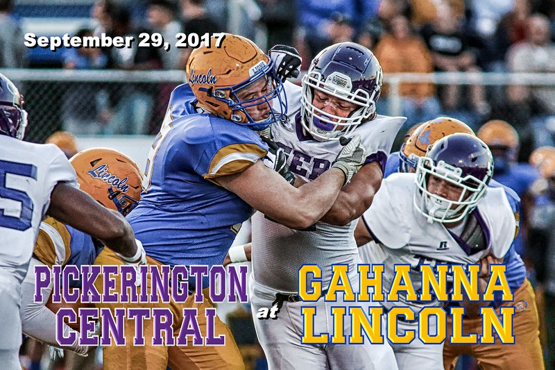 Pickerington High School Central Tigers at Gahanna Lincoln High School Lions - Friday, September 29, 2017