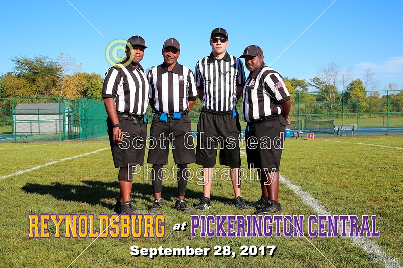 Game Day Officials - Waggoner Middle School Raiders of Reynoldsburg at Ridge View Middle School Tigers of Pickerington Central - 8th Grade - Thursday, September 28, 2017