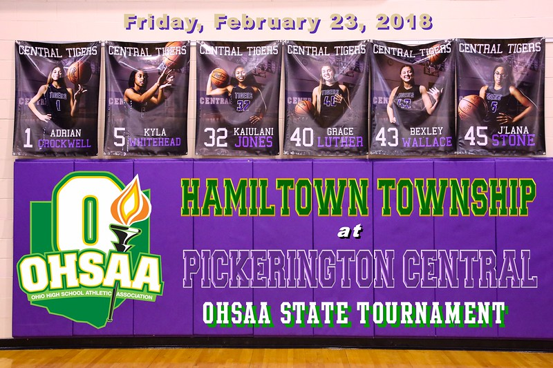 Hamilton Township High School Rangers at Pickerington High School Central Tigers - Ohio State Basketball Tournament - Friday, February 23, 2018