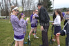 Team Captains and the Coin Toss - Pickerington High School Central at Granville High School Blue Aces - Tuesday, March 21, 2017