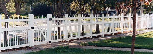 White Arlington Fence