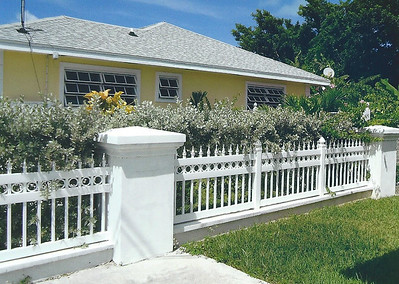 White Custom Arlington Fence