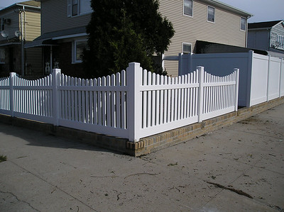 White Avondale and Lakeland Fence