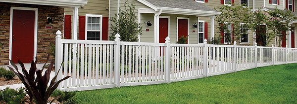 White Brewster Fence