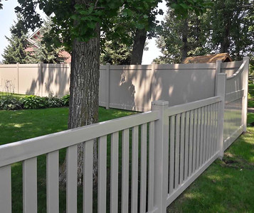 Almond Lakeland and Malibu Fence