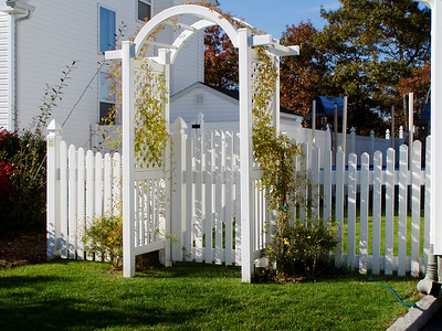 Springfield Fence with Oxford Arbor