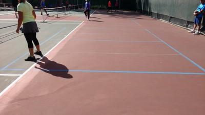 Back of courts - blended lines