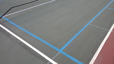 Close up of blended lines