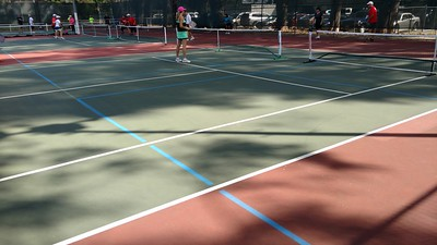 Eight PB Courts on 2 Tennis Courts