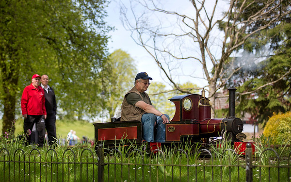 Strathaven Model  Society celebrate their 70th anniversary of the wee train with a full day of events in Strathaven Park ,