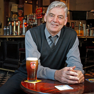 Billy Cowan Publican and proprietor of The Black Bull on Cambuslang Main Street.