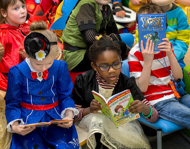 World Book Day @ Orchard Primary School in Wishaw .