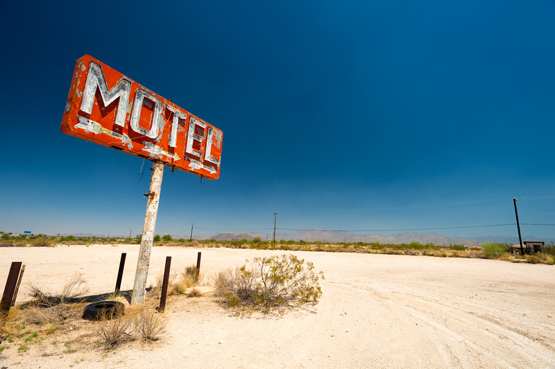 Motel Sign scene from Yucca Az Route 66