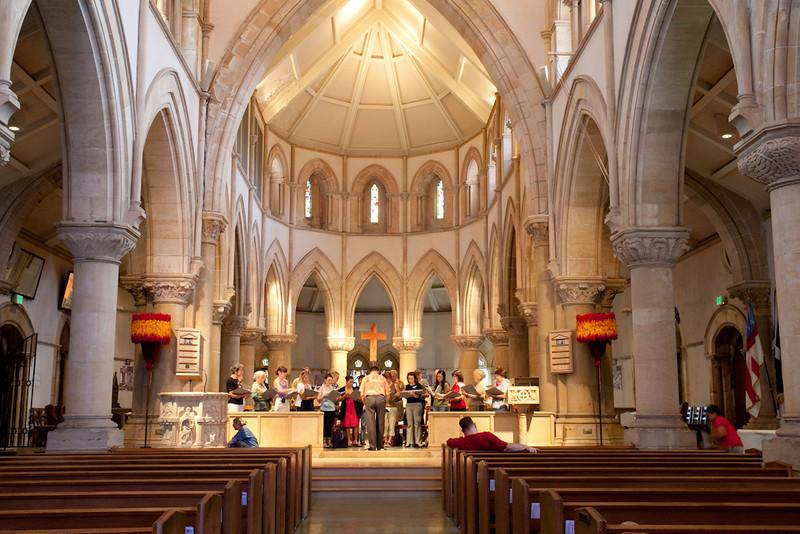 Chorus practice in St. Andrews Church