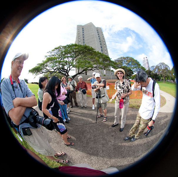 Eyes Of Hawaii Photo Club ready to start the photo walk.