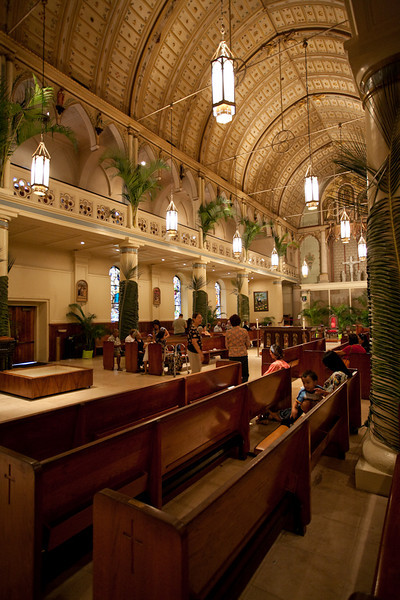 This is the oldest Catholic Church on Oahu. The Cathedral of Our Lady of Peace.