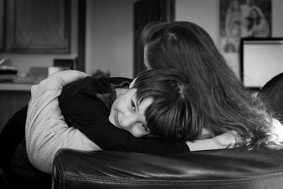 Brother Sister Hug