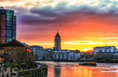 Battersea sunset 2.