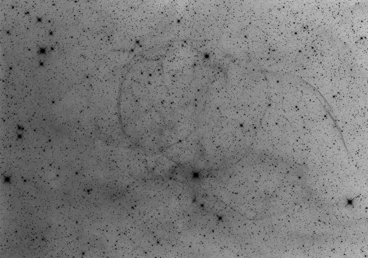 G206.9 +2.3 Supernova Remnant in Monoceros