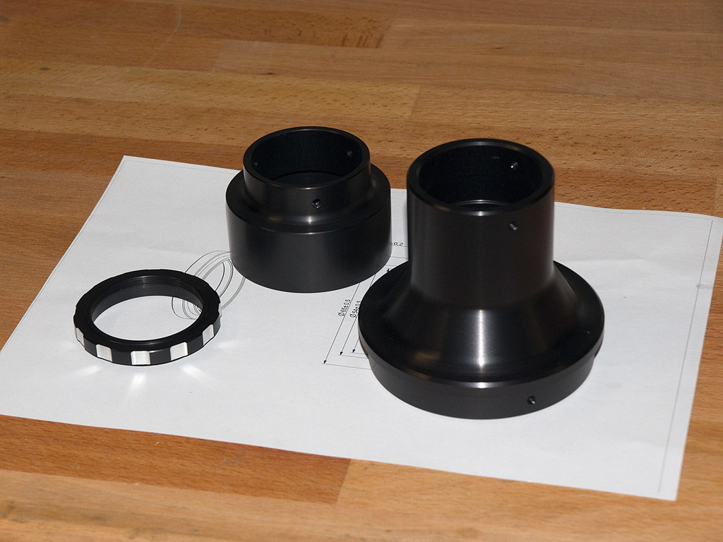 Custom focuser adapter parts
