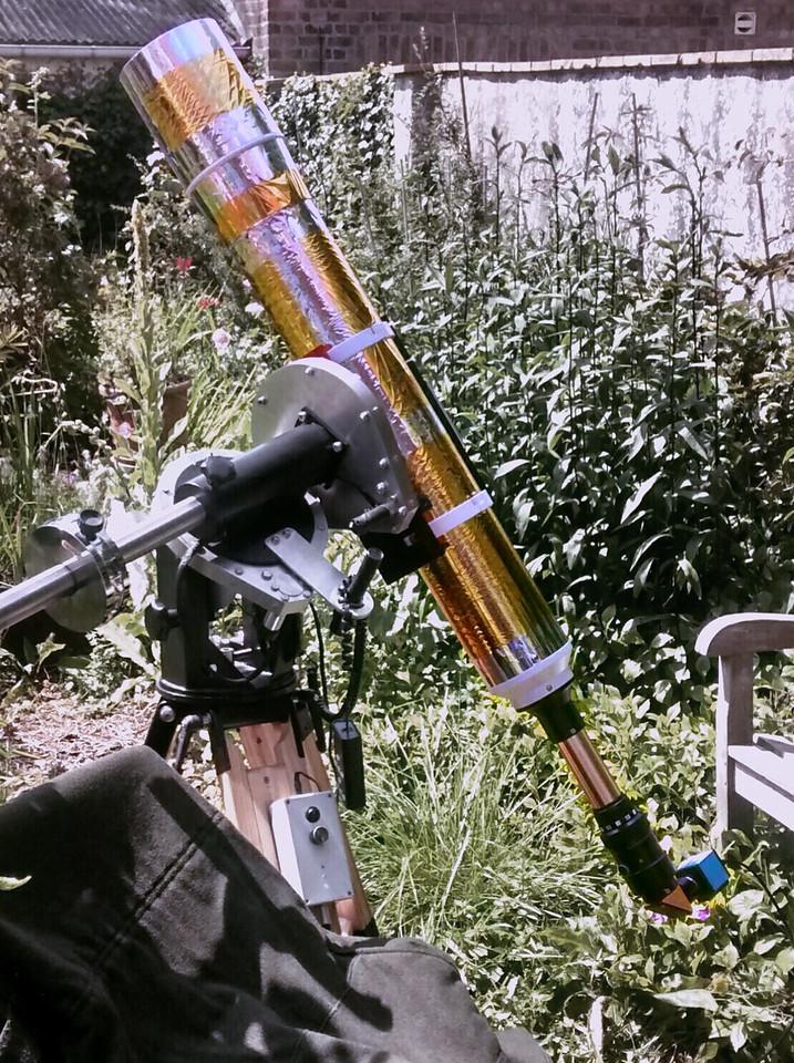 150mm f/10 pst mod solar scope