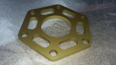 Anodised bulkhead parts