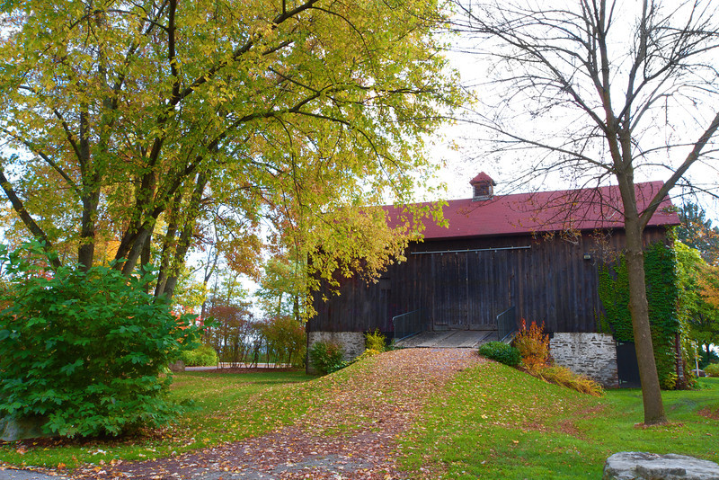 Heritage barn in beautiful autumn landscape