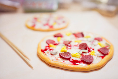 20150125 Polymer Clay Pizza