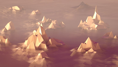 20170130 Low Poly Islands in the Mist