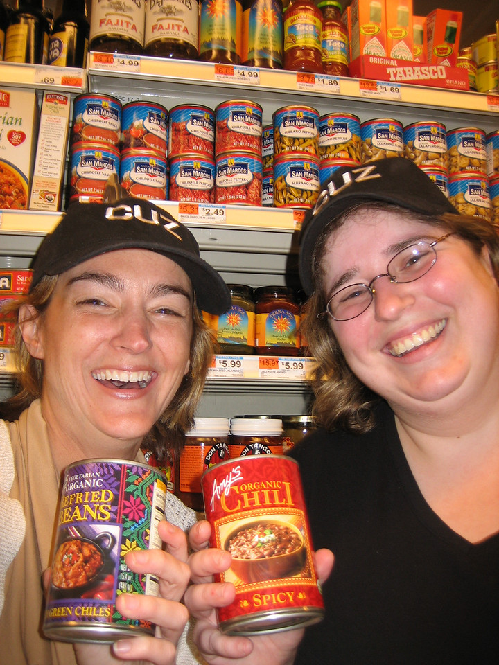 """APRIL 16, 2006<br /> <br /> Happy Easter!  Lovejoy and me at Whole Foods at the end of our """"Accomplice CUZ"""" hunt.  Because I am a crime fighting fool, and because the three of us loved Accomplice New York so much, my cousins created their own """"Accomplice CUZ"""" for me.  It was my Christmas present this year, and because of scheduling and weather, I just finally did it this weekend.<br /> <br /> It was brilliant.  Full of mystery and intrigue and black beans.  Jen Lovejoy accompanied me on this dangerous mission around the city.  Here we were happy because we were almost at the end.  We were just about to rescue my cousin!  Read more about it in the gallery...ACCOMPLICE CUZ."""