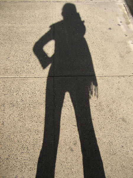 me and my shadow...strolling down the avenue.