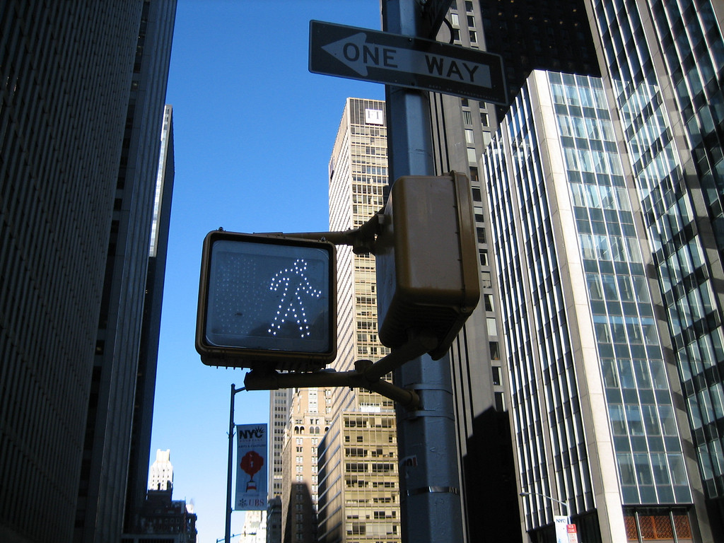 """I love this image of the walk sign.  For those of you in on the happenings of the last month, a walk sign...a """"yes"""", a sign of movement is quite appropriate.  I also love the way you can see the sky..."""
