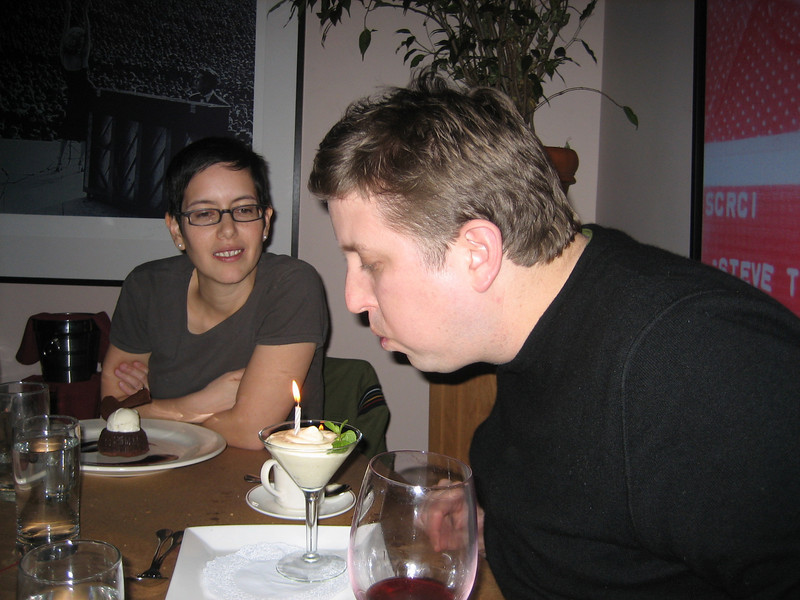 FEBRUARY 10, 2007<br /> <br /> Sean's 36th Birthday!  It's not til Monday, but hey...nothing wrong with a Birthday Weekend.  <br /> <br /> After dining with Adam, Lisa, Michael and Ambre at Jolie, we headed back to our pad to host a movie marathon led by the Birthday Boy.  He had three flicks in mind, but we only got through one of them.  Crack House.  It was extremely well received!