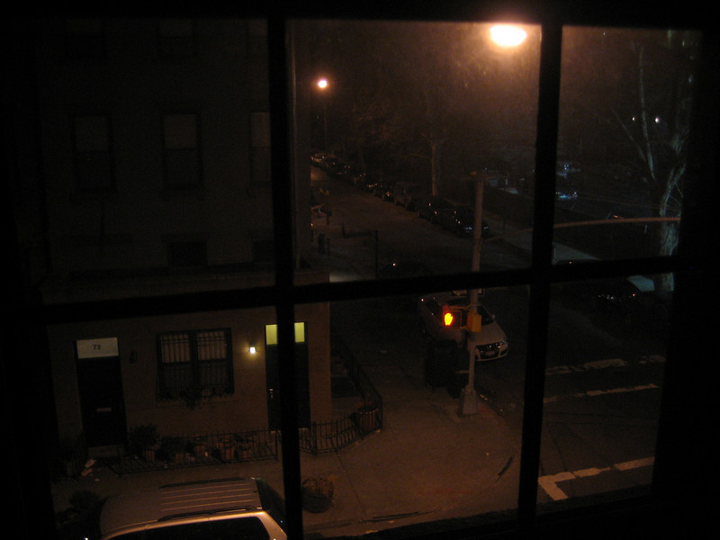 FEBRUARY 5, 2006<br /> <br /> Right before bed, I snapped this shot.  It's the view outside our living room window.