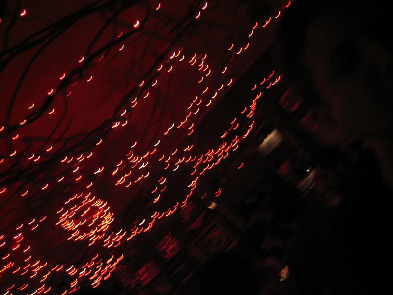 JULY 29, 2006<br /> <br /> Dinner at our East Village fave, Il Bagatto.  It's the place we go when we can't decide what we want and it ALWAYS makes us happy.  They have red lights all over the ceiling.  I love it there.