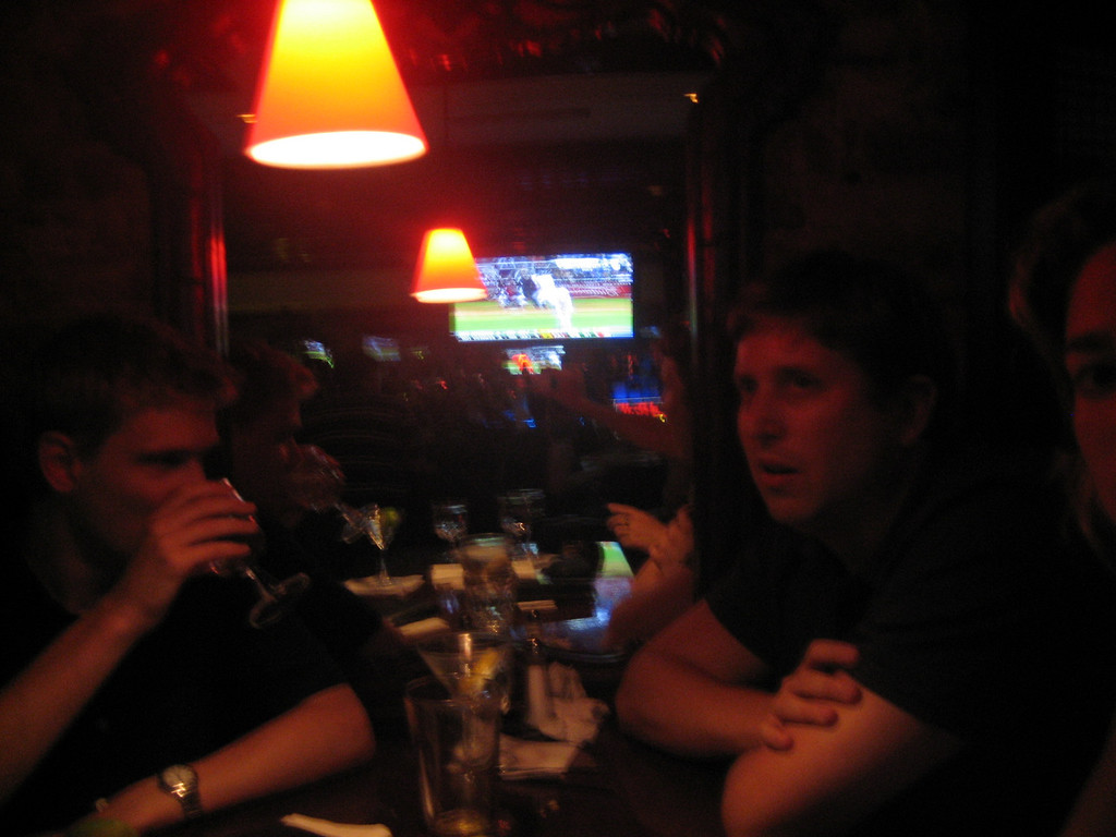 "JULY 14, 2006<br /> <br /> Drinks after seeing ""The History Boys"" with Smitty and Sara.  We had a GREAT conversation after the show and all agreed that we liked it a lot more after spending about 2 hours discussing it.  No matter what we do...it's always great fun with Smitty and Sara."