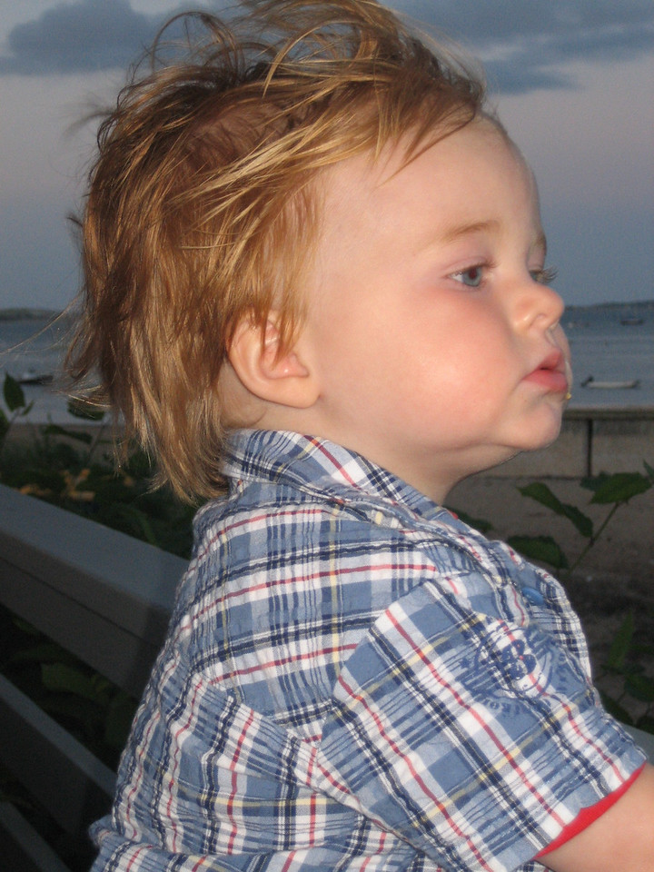 JUNE 27, 2006<br /> <br /> Kaylor watching the ships come in over a lobster dinner at the shore.