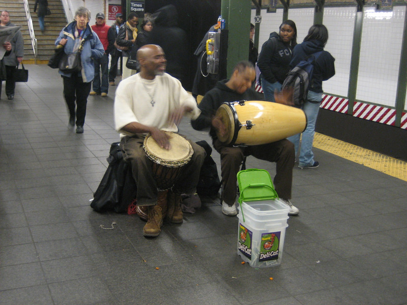 "MARCH 29, 2006<br /> <br /> 42nd Street.  They were singing ""Don't worry...be happy...""  It made me feel better.  I was having sort of a down day..."