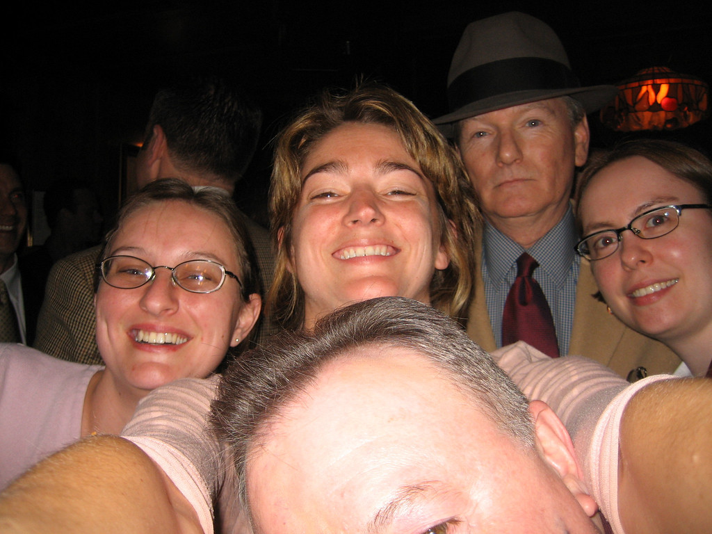 MAY 2, 2006<br /> <br /> Dan, Vanessa, Courtney, Jim, Katie.  (clockwise from the forehead.)<br /> <br /> This was the last night of my crime scene investigation class.  Jim Giery was an amazing teacher who taught us so much.  I'll spare you all the gory details, but he shared the true reality of the crime scene. After taking his class, I can honestly say that I would think twice before pursing a career in this field.  I think I always glamorized it and Jim really brought a new truth to it.  He didn't patronize us.  Yes there were gruesome photos and yes there were stories of drug busts and passion killings, but he always presented it with respect, honesty and well...humor.  I thank him for that.<br /> <br /> Oh...and he has great style.  He wears a hat extremely well.<br /> <br /> Tonight I had drinks with Jim, his wife Katie, and my fellow classmates Dan and Vanessa.  I really enjoyed meeting these new friends.  If anything, this class allowed me to meet incredible new people.  And I'm thankful for that.