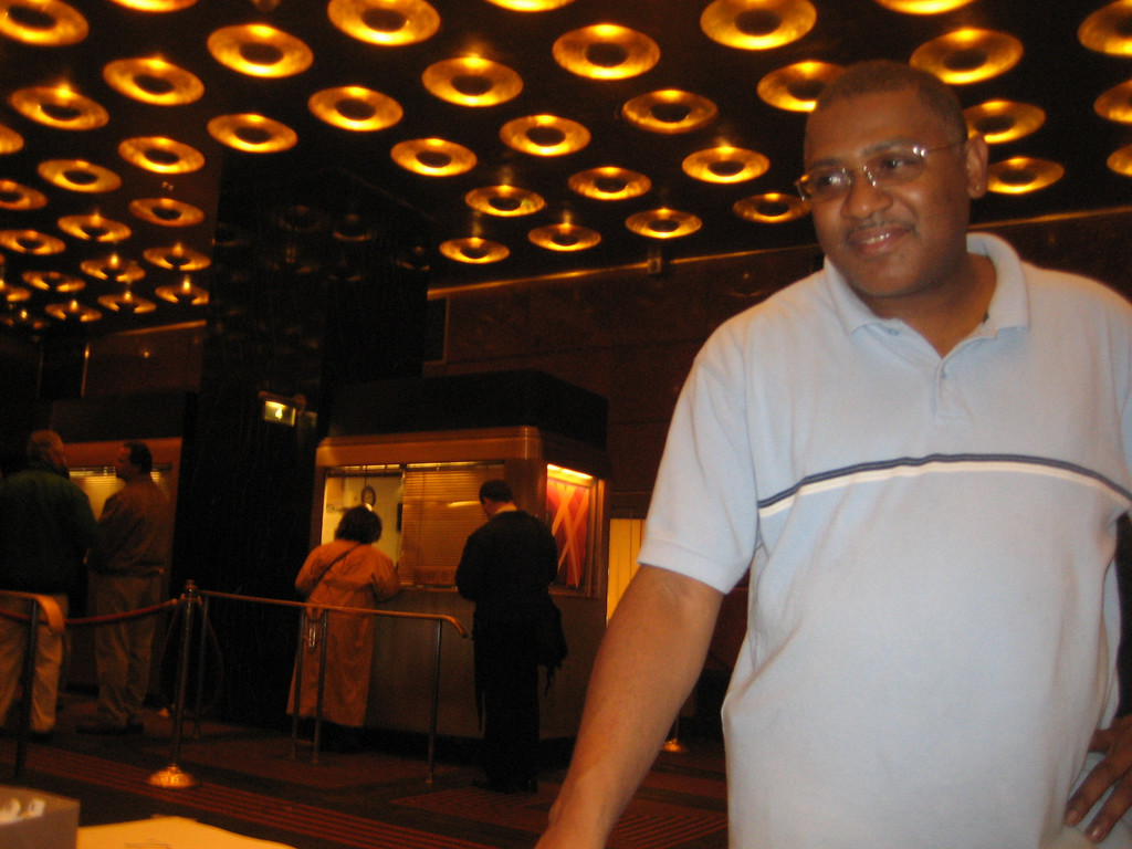 NOVEMBER 8, 2006<br /> <br /> This is Eric.  The building would literally fall down around us without him.  He is our head of facilities at Radio City.  Here he came down to the lobby to make sure I had a table to hand out tickets.  He is always 3 steps ahead of all of us...