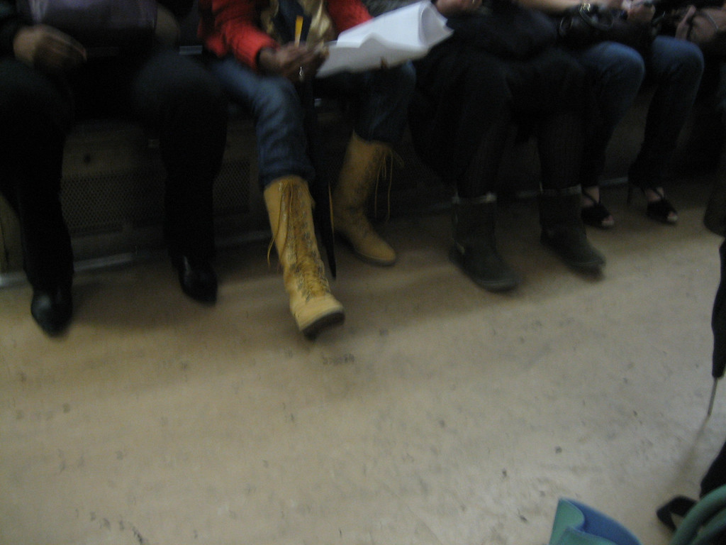 NOVEMBER 30, 2006<br /> <br /> On my way to work in the morning, I looked down and loved all the different kinds of shoes the women were wearing.  Black cowboys, Brown tie-ups, Uggs, and 3-inch black heels.