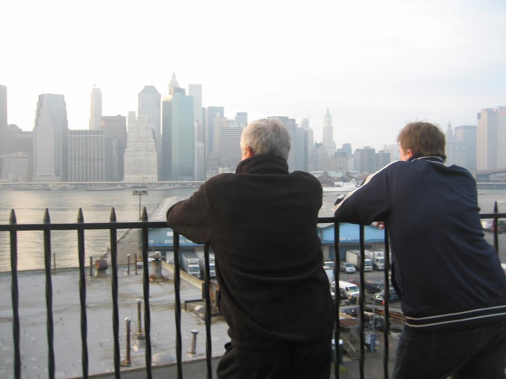NOVEMBER 11, 2006<br /> <br /> Sean and his Dad at the Brooklyn promenade on a foggy Saturday.