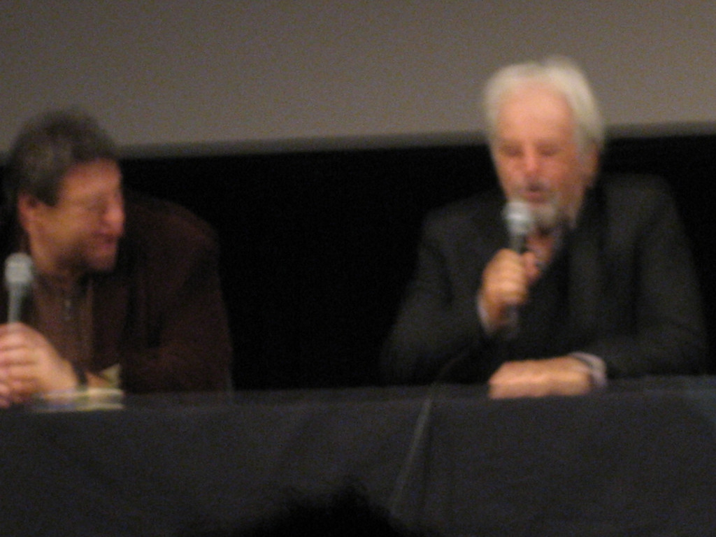 OCTOBER 6, 2006<br /> <br /> This is around 11:30pm on Friday night after we had just seen the cult movie, El Topo by Alexandro Jodorowsky.  This is him on the right having a talk back after the movie.  Sorry it's so blurry.  I didn't want to flash and make a scene.  It was a cool night.