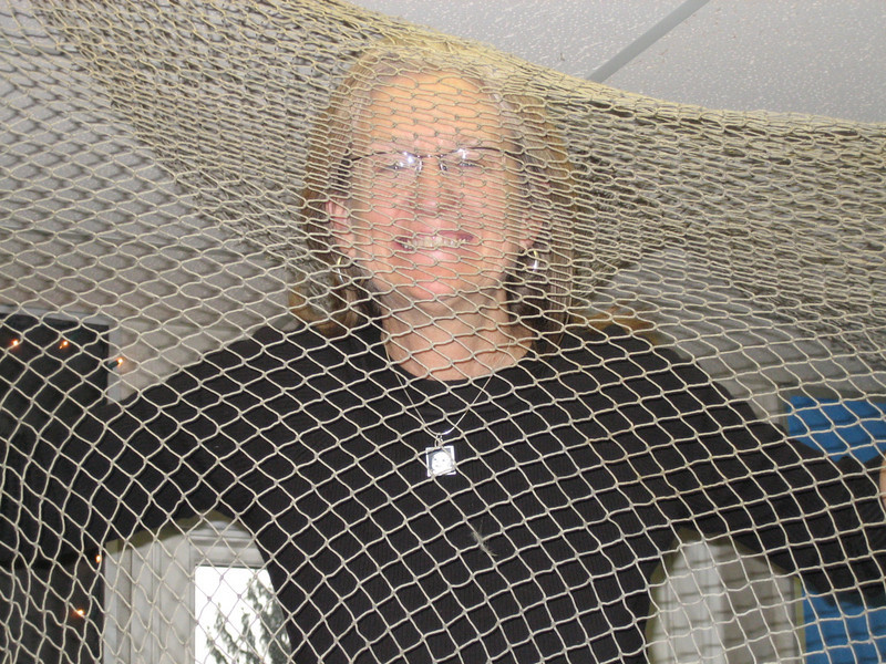 Mom and fishing net.  (See classroom shot and description.)