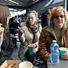 Trying to wake up with coffees at Queen Victoria Market