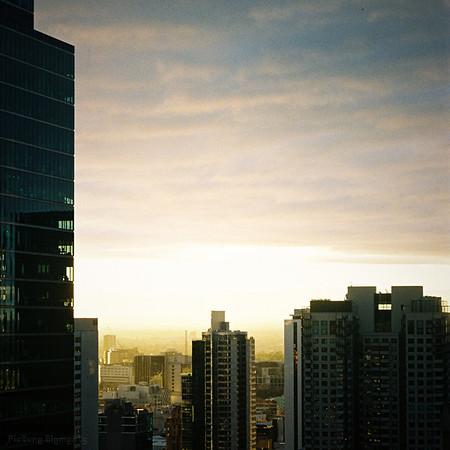 CBD Sunset, take 1
