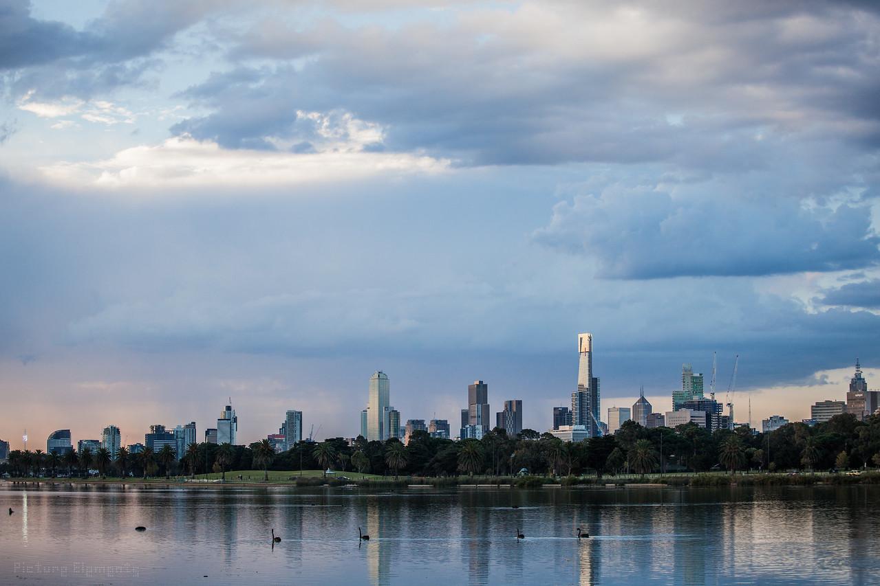 Melbourne Skyline #23452356432