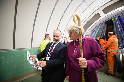Bishop Sarah Blesses the Tyne Foot Tunnel