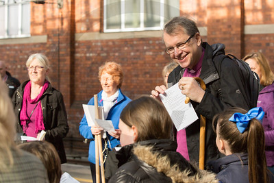 Bishop visits Darlington for Prayer Walk