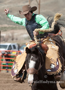 Lady Bronc  Rider- Kaila Mussell_  Winning the DMC Rodeo _M302833 fb
